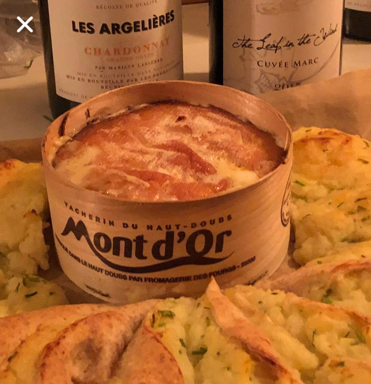 Tarte fondue au Mont d'or