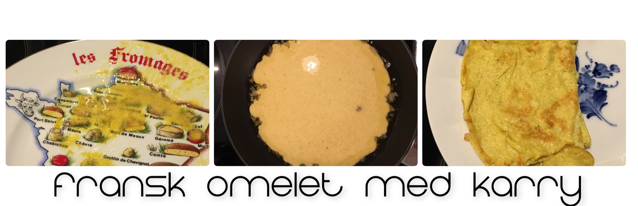 Fransk omelet med karry