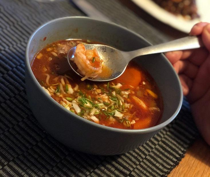 Opskrift på stærk suppe med tigerrejer